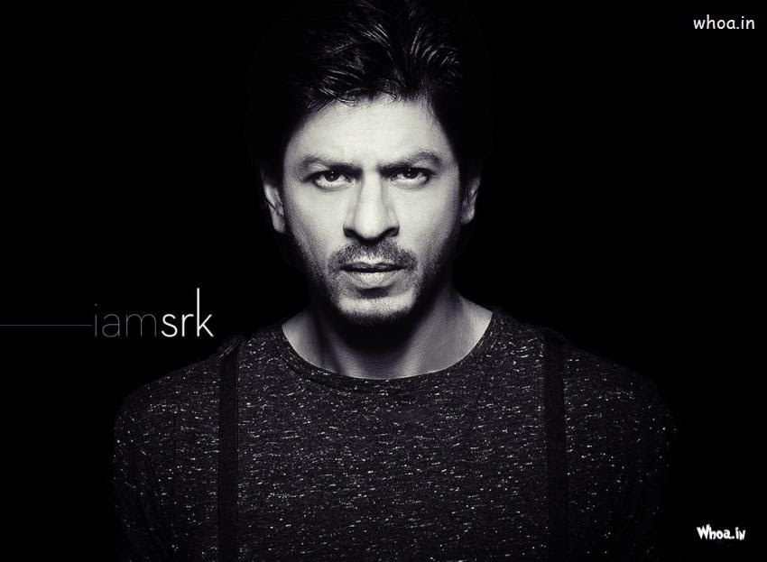 Shah Rukh Khan I Am Srk With Black And White Hd Wallpaper