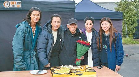 甄子丹(左二起)、袁和平及楊紫瓊聯手的《臥虎藏龍2》於下月中上映。