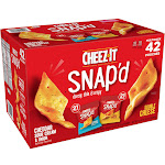 Cheez-It Snap'd Snack Crackers 42 x 0.75 oz - Variety Pack