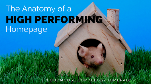 The Anatomy of a High Performing Homepage by LoudMouse