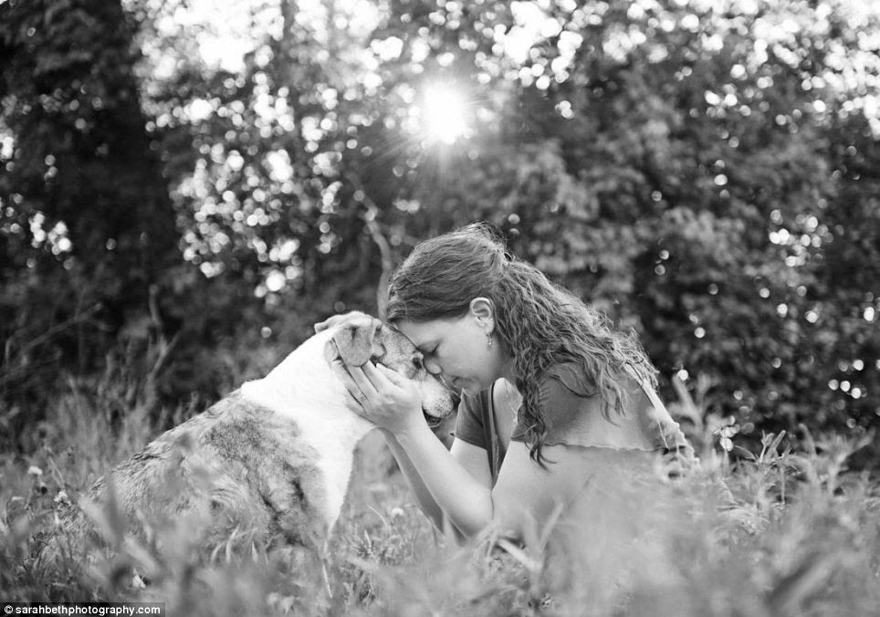 Emotional: The photographer said the sessions are for people who want to 'celebrate the happiness' their pets have brought to their lives