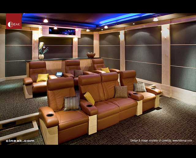 CINEAK Fortuny Seats used in Modern Home Theater - modern - media ...