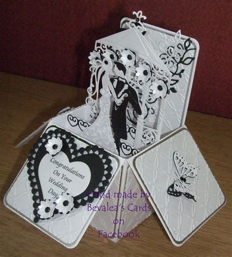 Wedding Pop up Box using Spellbinders and Tattered Lace