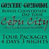 Cebu City + Pescador Island Hopping + Bohol Countryside Day Tour Itinerary 4 Days 3 Nights Package