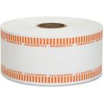 1000 ft. Automatic Coin Flat Kraft Wrapper Rolls - Orange & White PL521546