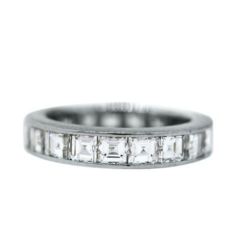 Platinum 3.5 Ctw Asscher Cut Diamond Eternity Band Ring