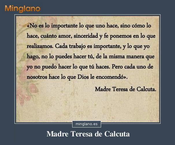 Frases De La Madre Teresa De Calcuta Con Imagenes