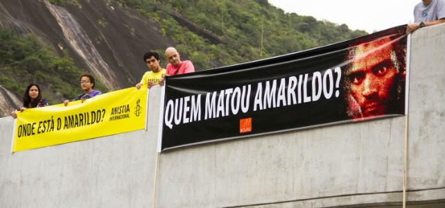 Cartel de AI sobre la desaparición de Amarildo. -Elisângela Leite/Anistia Internacional