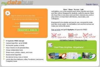 Le site du jour : myDataBus.com ( solution de stockage en ligne)