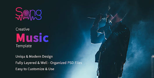 Sing - Music PSD Template by itclan | ThemeForest