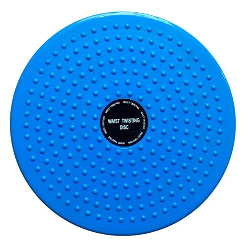 Torsion Waist Hips Twist Exercise Board, Yamix Multifunction Waist Twisting Disc Body Aerobic Exercise Figure Trimmer Balance Rotating Board - Blue