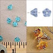 Medium Glass Trumpet Flowers - Sapphire Blue