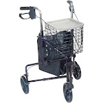 drive Deluxe Rollator 300 lbs. Aluminum 31 to 38 Inch Handle Height | SimplyMedical.com