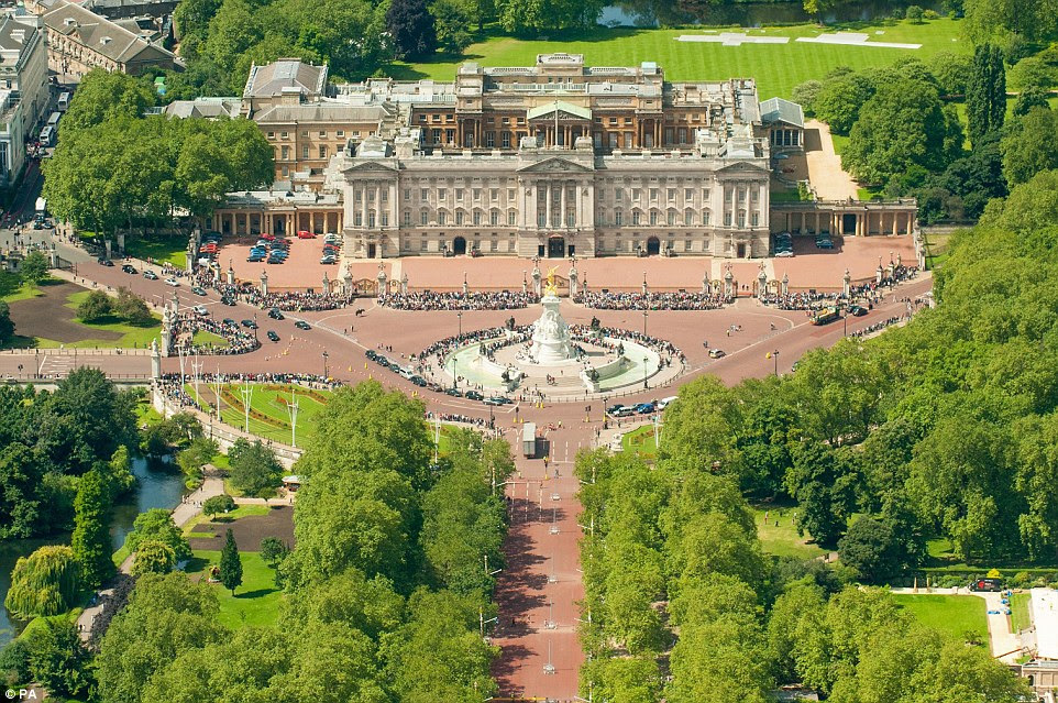 Buckingham Palace, pictured, is to undergo a £370million 'essential' refit over the next decade it was announced on Friday
