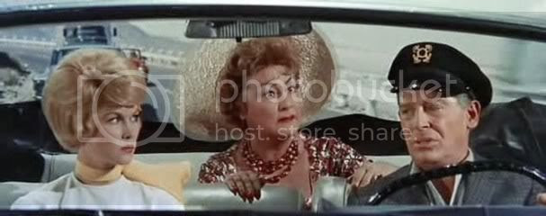 Dorothy Provine, Ethel Merman, and Milton Berle in 'It's a Mad, Mad, Mad, Mad World' (1963)