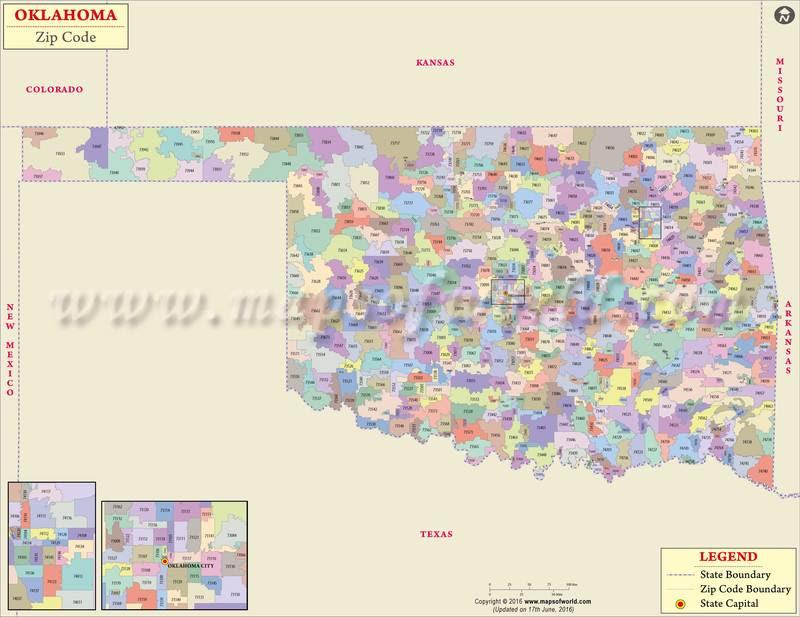 oklahoma zipcode map