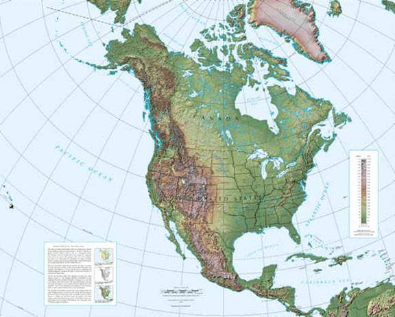Topographical Map North America Cinemergente