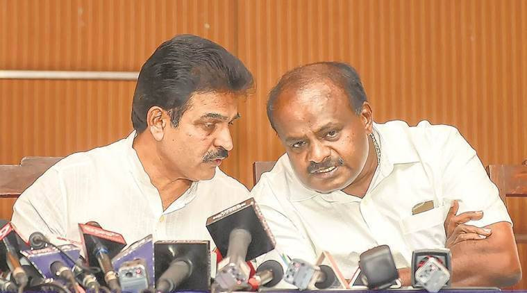 Karnataka:    JDS, Congress share portfolios; to contest 2019 polls together