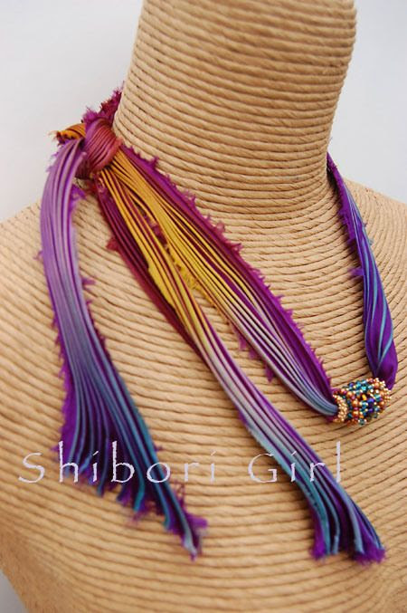 shibori ribbon jewelry | some times simple is best | Shibori Girl