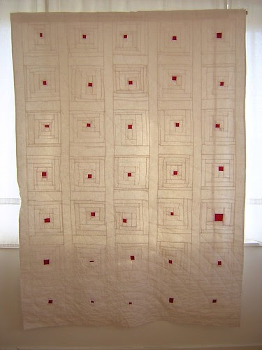 Little Elements of fire - red and white quilt
