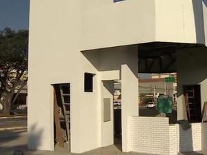 Após polêmica, São José inaugura quiosques na área do Banhado (Foto: Reprodução/TV Vanguarda)