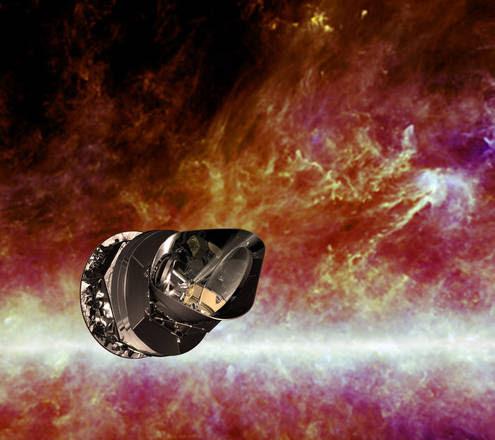 Rappresentazione artistica della misisone Planck (fonte: ESA - C. Carreau)