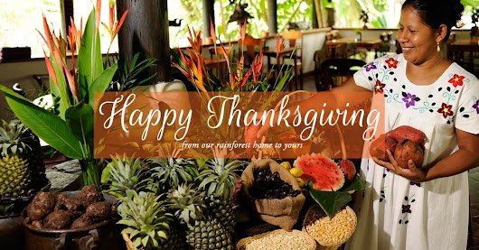 Happy Thanksgiving from The Lodge at Chaa Creek!