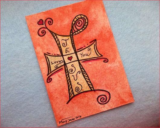 ACEO Original Watercolor Painting  Jesus by TheEmbellishedArtist