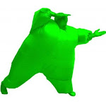 Inflatable Teen Chub Suit Costume (Green)