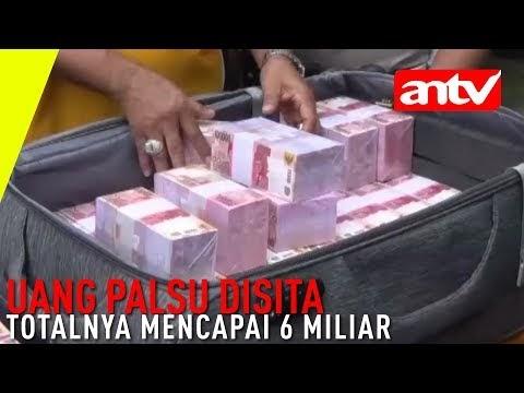 Jual Uang Palsu Senilai 6 Miliar Rupiah Dibekuk Polisi