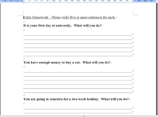 esl homework