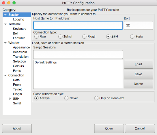 Putty for Mac 8.0 has been released