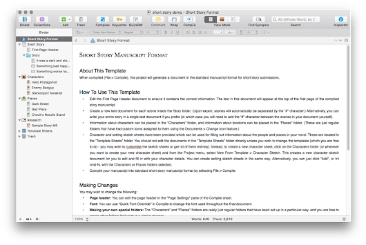 Writing with Scrivener Part 1 |