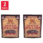 Doggy Dollars Premium Beef Dog Treats 32 oz, 2 Pack