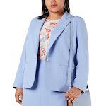BAR III Women's Blazer Periwinkle Blue