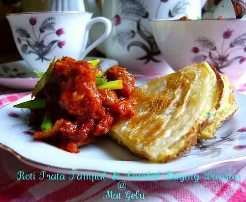Roti Prata Tampal & Sambal Daging Warisan