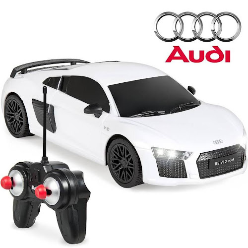 1/24 Scale 27MHz Audi R8 Sport RC Toy Car w/ Lights - White - Google