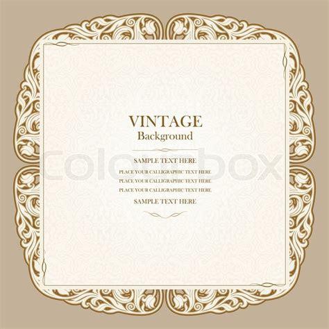 Vintage background, elegant wedding invitation card