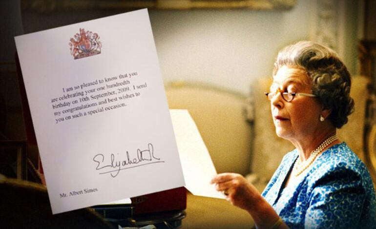 From the Queen, with love