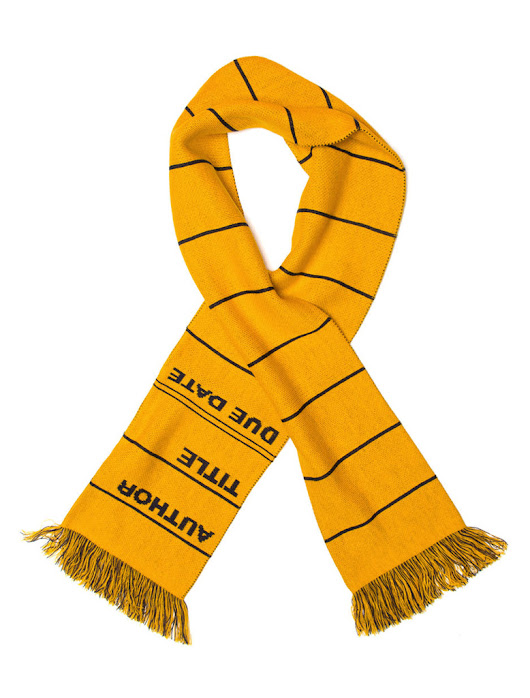 Library Card Scarf - Yellow – Out of Print