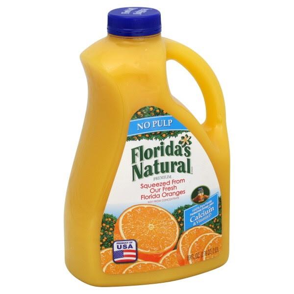 Florida S Natural Premium Orange Juice With Calcium No Pulp