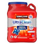 Kirkland Signature Ultra Clean HE Laundry Detergent Pacs, 152-count