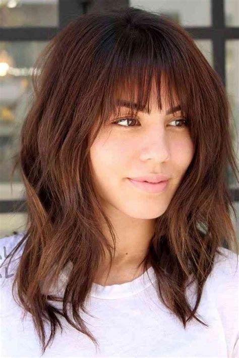 latest medium hairstyles  bangs  women