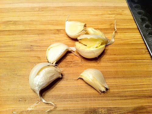 Smashed Garlic Cloves
