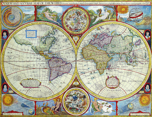 A New And Accvrat Map Of The World 1626 by R Muirhead Art