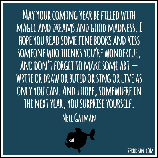 New Years Wish By Neil Gaiman Q M Pinterest Neil Gaiman Beauteous