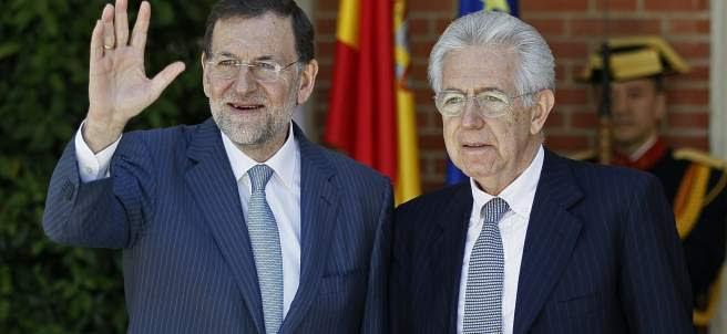 Mariano Rajo y Mario Monti