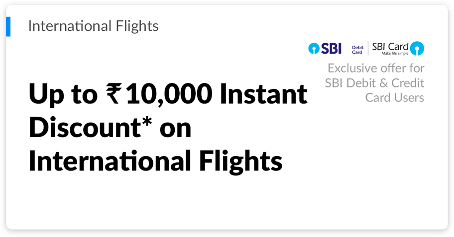 Makemytrip international flights up to 10000 instant discount on international flights