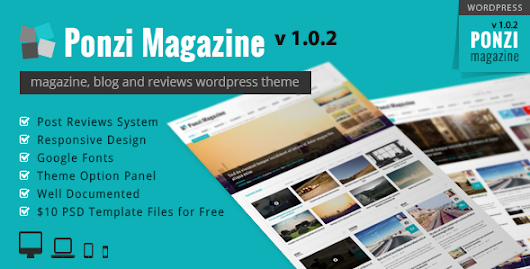 Ponzi | Responsive WordPress Theme Magazine Review