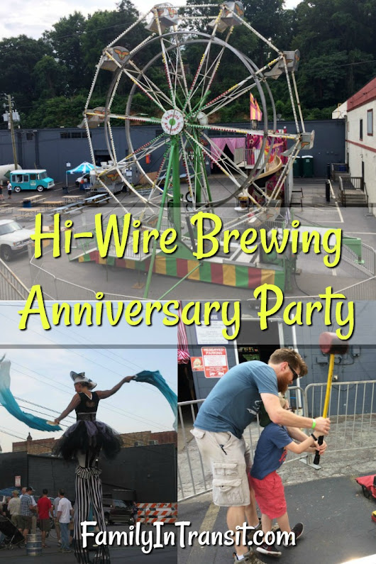Hi-Wire Brewing Anniversary Party At The Big Top | Asheville, NC